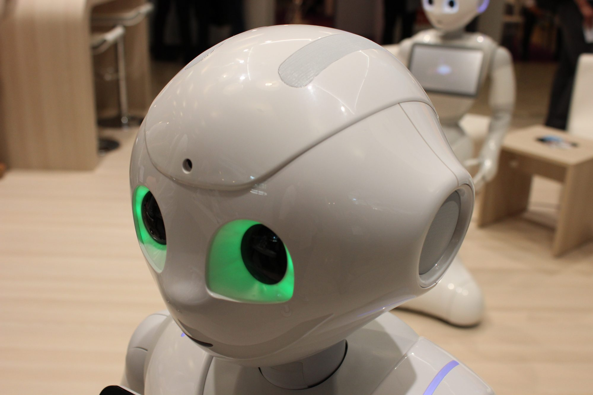 The Pepper Robot created by SoftBank Robotics Corps.